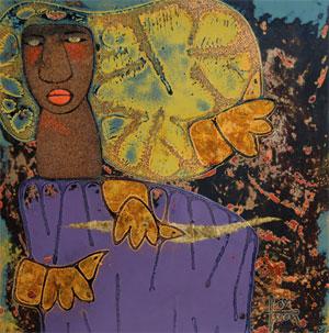 Một tác phẩm trưng bày tại triển lãm.