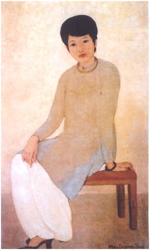 Thiếu phụ - Tranh sơn dầu (1930) của Mai Trung Thứ